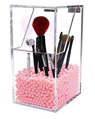 PuTwo Oraganizador Maquillaje Acrílica Gran Capacidad Estuche Caja Maquillaje Grande Rosa