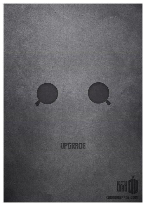 Upgrade / Karma Orange / Minimalist Doctor Who Posters