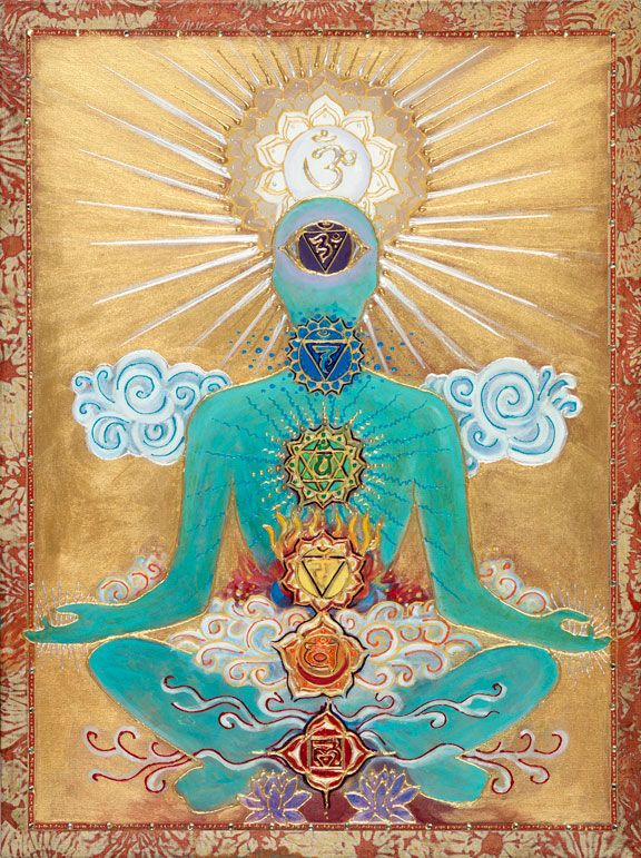 """""""Chakras, in some Hinduist traditions and other belief systems, are centers of Prāṇa, life force, or vital energy. Chakras correspond to vital points in the physical body i.e. major plexuses of arteries, veins and nerves. Texts and teachings present different numbers of chakras."""""""