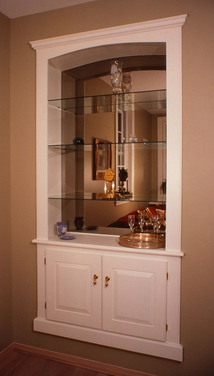 Custom Made Built In Wall Cabinet