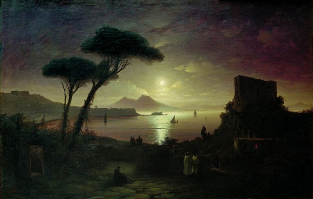 Ivan Aivazovsky, The Bay of Naples at Moonlit Night