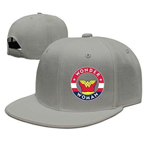 MaNeg Wizards & Wonder Woman Unisex Fashion Cool Adjustable Snapback Baseball Cap Hat One Size Ash @ niftywarehouse.com