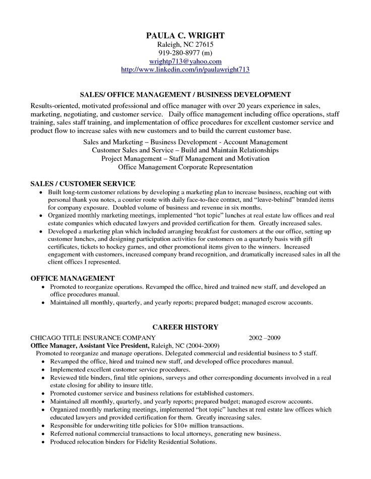 professional profile resume examples templates