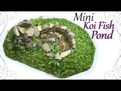 How to: Mini Koi Fish Pond - Polymer Clay / Resin Craft Tutorial - YouTube