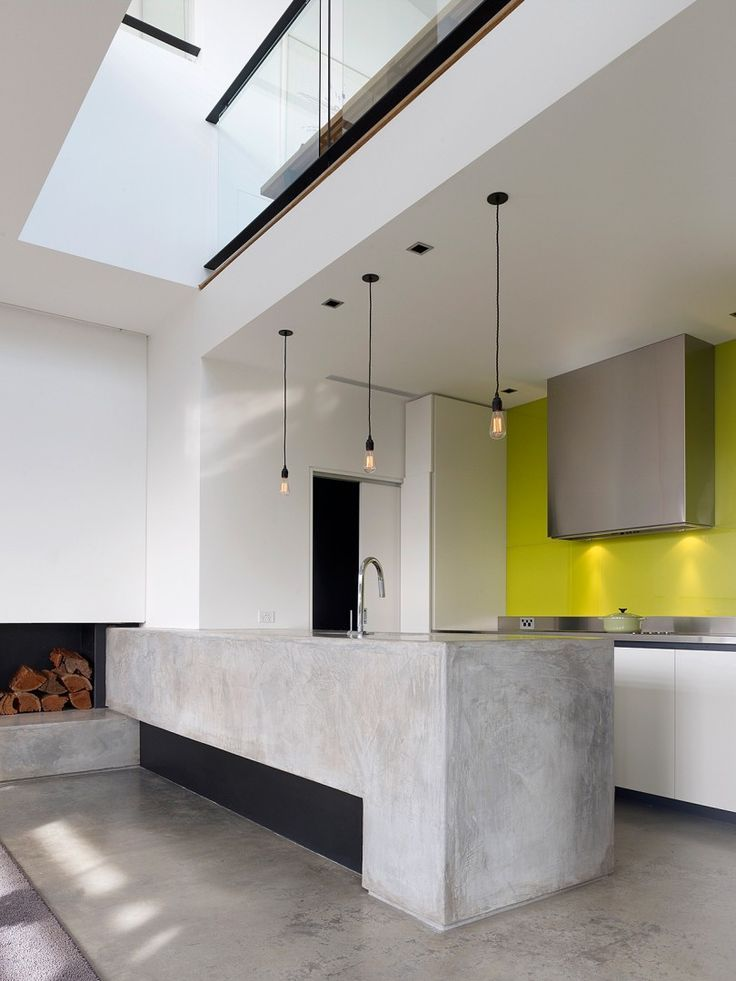 — Concrete Kitchen Island