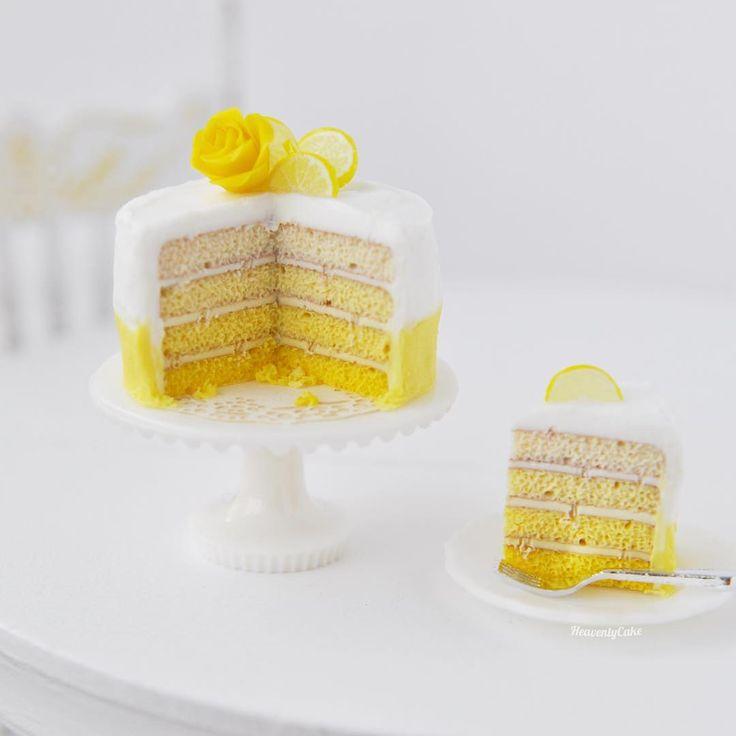 2017, Lemon ombré cake♡ ♡ By Havenly cake