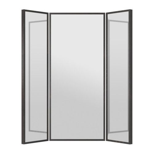 STAVE Mirror IKEA 3 way full body mirror only $130! Great to fill a corner and bring a lot more light in the room.