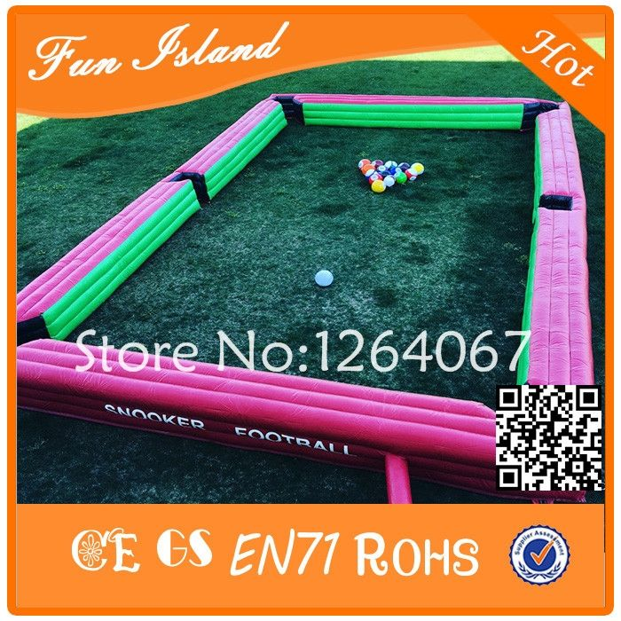 1235.00$  Watch here - http://alig7l.worldwells.pw/go.php?t=32738119377 - Free Shipping Inflatable Snooker Football Field Snooker Game Giant Inflatable Table Pool With Balls For Sale