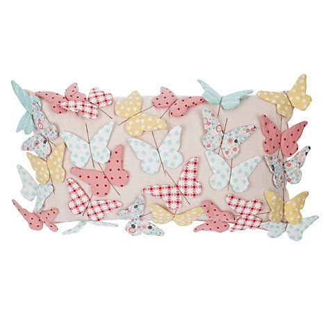 Buy little home at John Lewis Little Fairy Butterflies Cushion Online at johnlewis.com