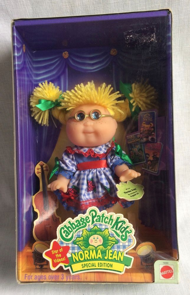 Cabbage Patch Kids Norma Jean Special Edition Doll In Original Box 1998 Mattel Cabbage Patch Kids Cabbage Patch Dolls Cabbage Patch