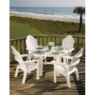 Lifestyle Poly Resin 5 Piece Dining Set Finish: Sand by Great American Woodies. $1670.07. GA1786 Finish: Sand Features: -Lifestyle dining table and 4 optional deck / dining chair.-Made in the USA. Assembly Instructions: -Easy assembly required. Dimensions: -Dining table height: 46''. Collection: -Lifestyle Poly Resin collection. Warranty: -1 Year warranty against manufacturer defects and workmanship.
