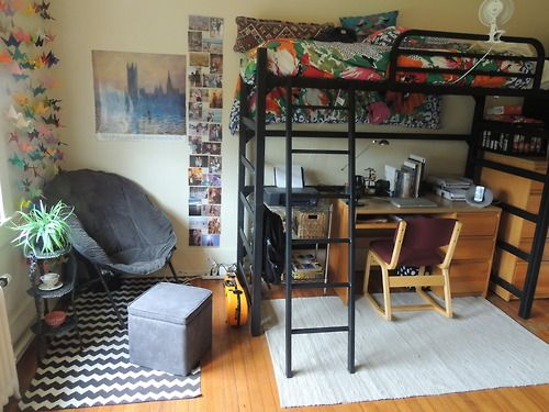My freshman dorm room at the University of Mary Washington, VA! I changed it after this unfortunately to make it more comfortable (bed unlofted), but I have these pictures as memories <3 <3 <3