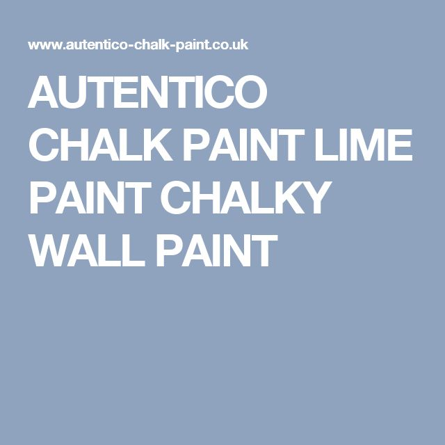 AUTENTICO CHALK PAINT LIME PAINT CHALKY WALL PAINT