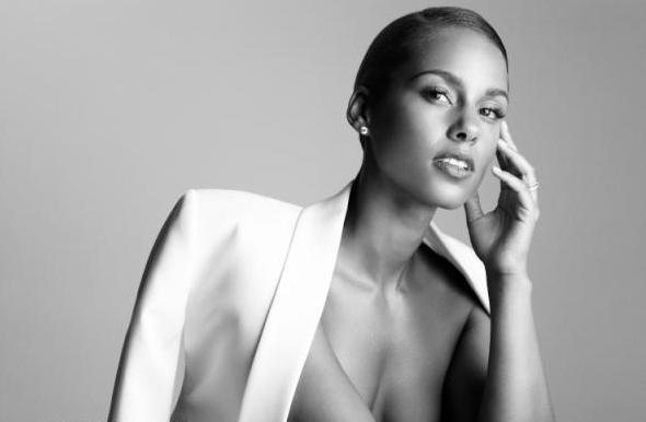 Alicia Keys white blazer: Keys White, Girls, Loving Alicia, Adore Alicia, White Blazers, Black His Her, Alicia Keys, Keys Releases