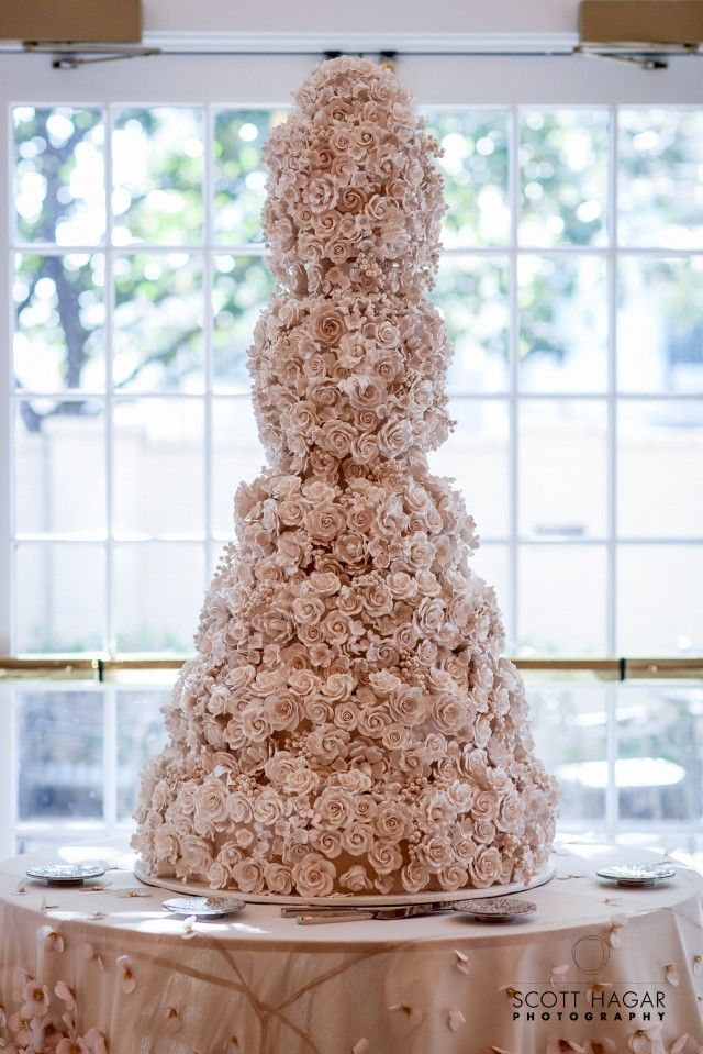 Overthetop floral embellished wedding cake by Bronwen