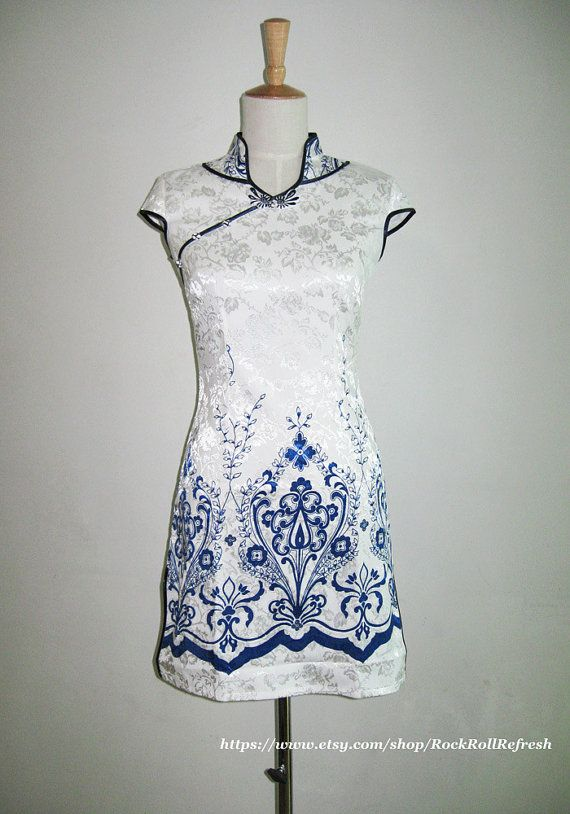 Vintage Chinese Dress/Printed Chinese by RockRollRefresh on Etsy, $40.00