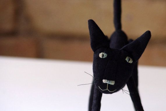 Black cat by adatine on Etsy