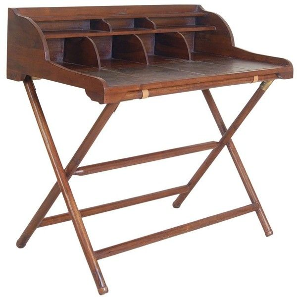 bluebone livingstone leather writing desk with rack teak and leather