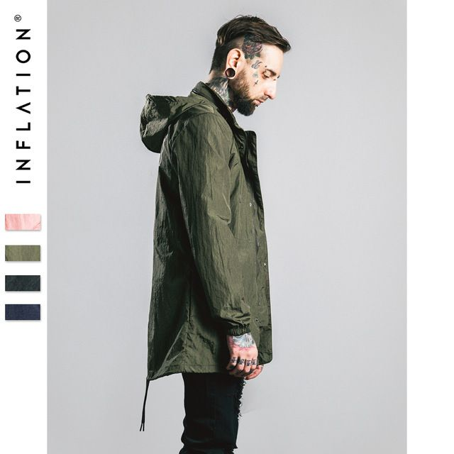 Check current price 2016 INFLATION Autumn Trench Coat Men Printing Hoodies Dovetail Trench Coat Men Outerwear Casual Coat Men's Jackets Windbreaker just only $38.78 with free shipping worldwide  #jacketscoatsformen Plese click on picture to see our special price for you