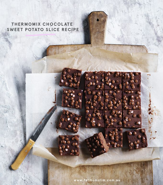 Because we don't only have to hide veggies in savoury dishes, right? THERMOMIX CHOCOLATE SWEET POTATO SLICE INGREDIENTS 500 g water 250 g sweet potato, peeled and cut into cubes (3 cm) 150 g red apple, peeled and cut into cubes (3 cm) 100 g butter, cut into pieces (3-4cm), plus extra for greasing 8...ReadMore