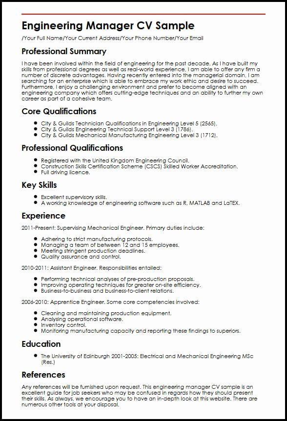 Director Of Engineering Resume Elegant Sample Cv Engineering Manager Engineering Manager Resume In 2020 Engineering Resume Project Manager Resume Job Resume Samples