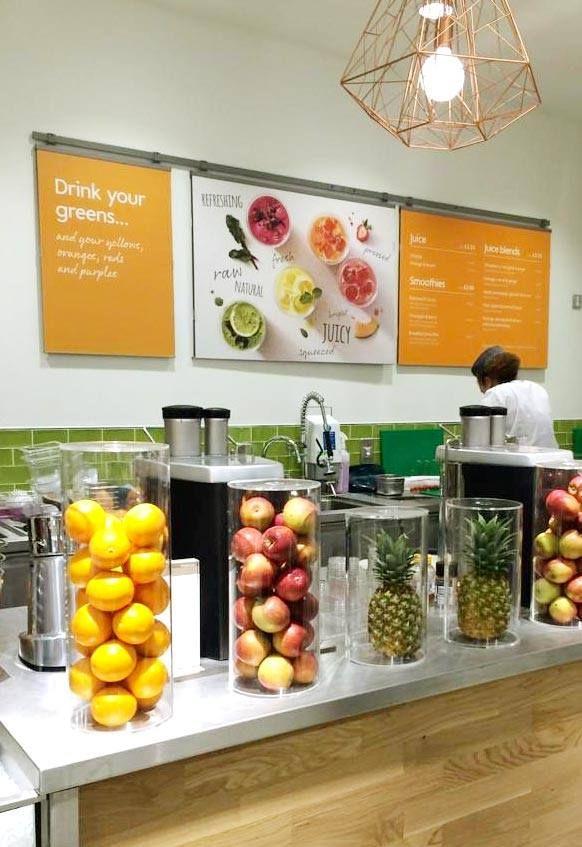Sleek design fits in modern juice bars