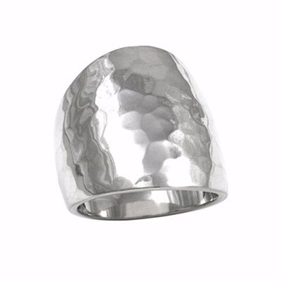 925 Sterling Silver Hammered Ring