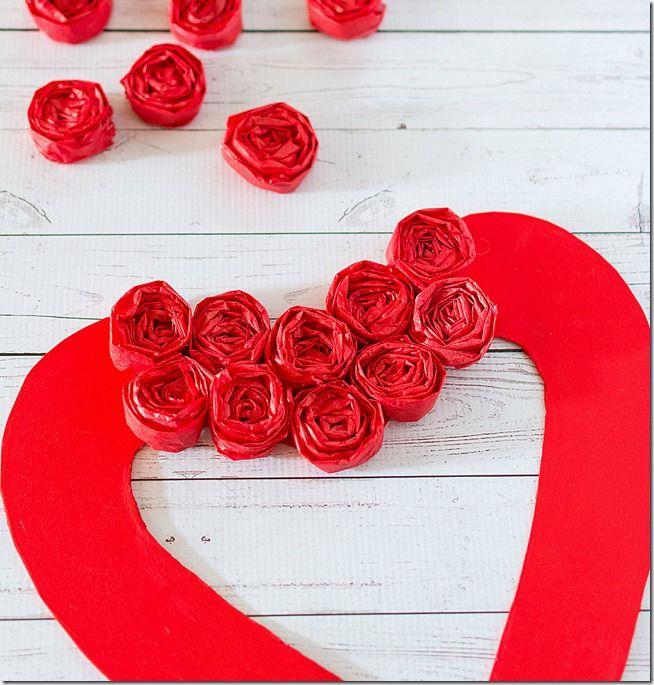 valentine wreath craft idea for valentines day - 654×685