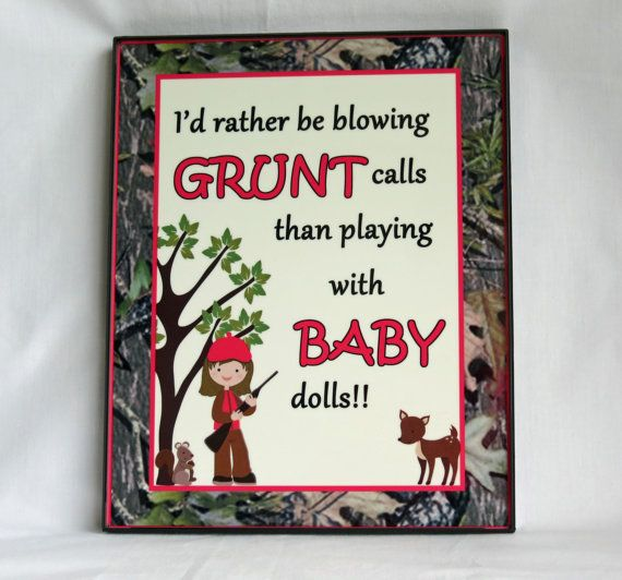 Camo Girl Room Decor  Deer  Wall Plaque  by SonshineCreations3, $20.00