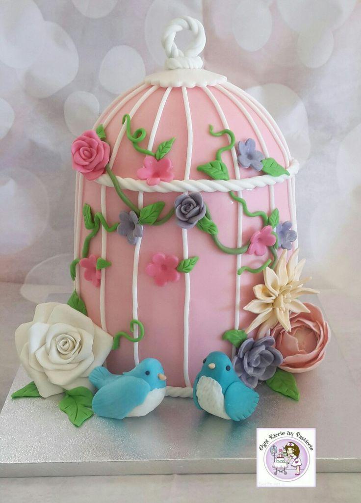 Birds' cage cake!