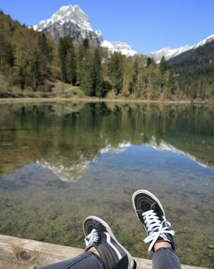 Picture Perfect: Sk8-Hi's and fresh mountain air.  Photo via 7thmind