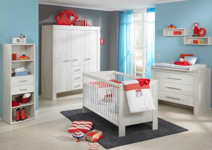 Trend Paidi Babyzimmer Mees Scandic Wood NB Dekor wei Kinderbett Kinderzimmer Kleiderschrank Wickelkommode
