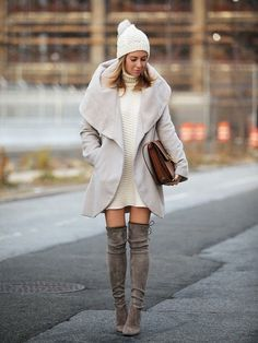 22 New Ways to Wear Over The Knee Boots Glamsugar.com Over The Knee Boots Trend