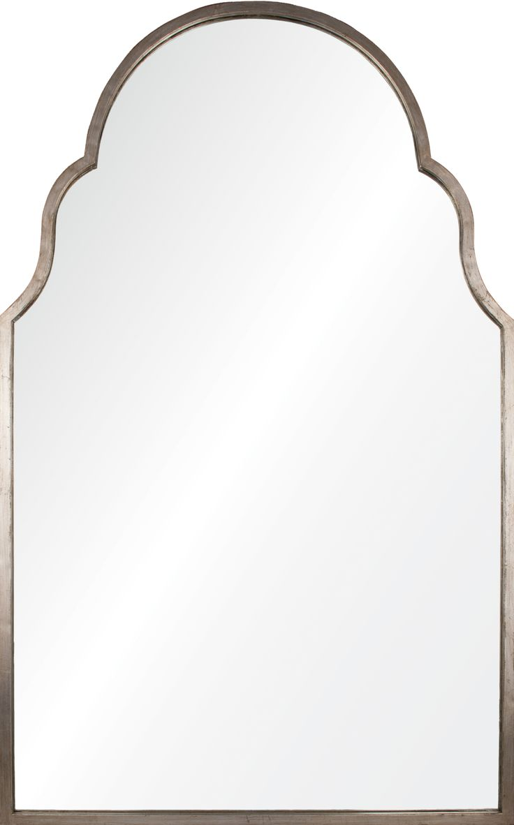 Williams sonoma home five panel beveled mirror - Williams Sonoma Home Five Panel Beveled Mirror Simple Arched Mirror Framed With Antiqued Silver Leaf