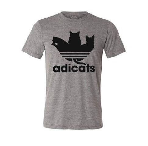 8ad1713f78 Adicats T shirt Funny Adidas Parody T shirt Cat Kitty Lover | Kitten ...