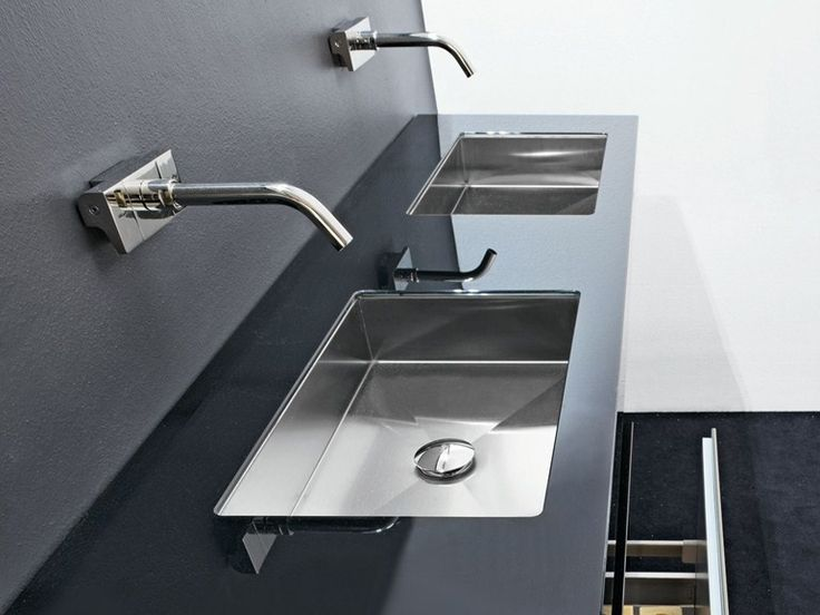 Rectangular undermount stainless steel washbasin CUBE by MAKRO | design Makro Design