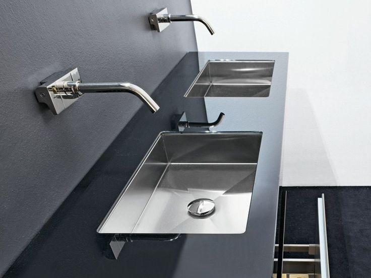 Rectangular undermount stainless steel washbasin CUBE by MAKRO | design Makro Design