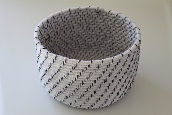 Handmade baskets from upcycled materials. The craftsmanship is amazing.Dyi Baskets, Baskets Weaving, Coil Baskets, Handmade Baskets, Ropes Baskets, Crafts