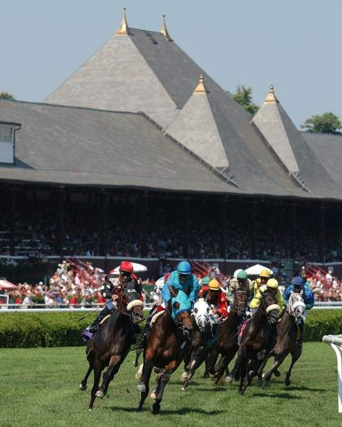 Horse racing in Saratoga Springs, N.Y. New York Racing Authority Great Place to visit.