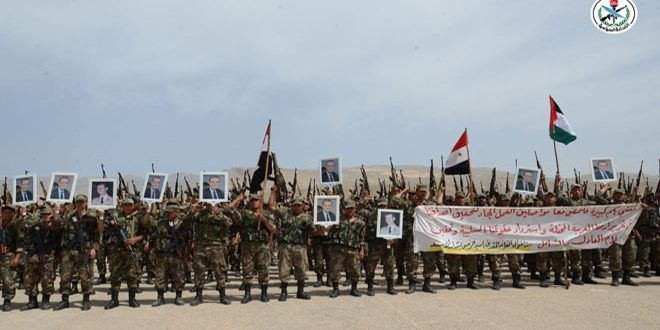 القوات المسلحة تحتفل بذكرى عيد الشهداء سورية قوية بتضحيات أبنائها الذين يبذلون الغالي والنفيس للذود عنها فيديو S A N A Martyrs Dolores Park Victorious