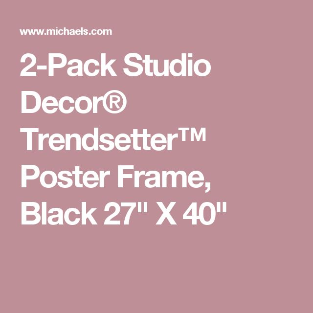 2 pack studio decor trendsetter poster frame black 27 x 40