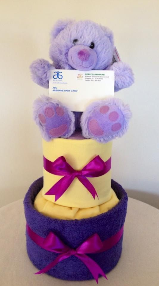 Baby Girl Nappy Cake by HolliesNappyCakes on Etsy