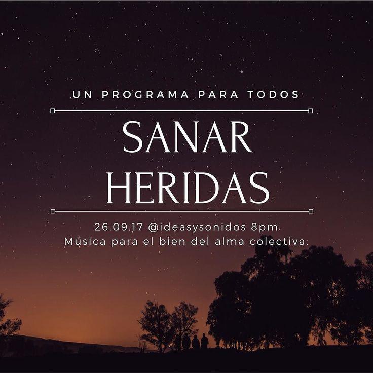26.09.17@ideasysonidos 8pm. Música para el bien del alma colectiva. Sanar es importante. Hagámoslo juntos. #sanación#podcast #healingmusic LINK PARA ESCUCHAR EN LA BIO/LINK IN BIO