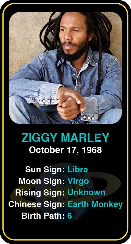 Celeb #Libra birthdays: Ziggy Marley's astrology info! Sign up here to see more: astroconnects.com #astrology #horoscope #zodiac #birthchart #natalchart #ziggymarley