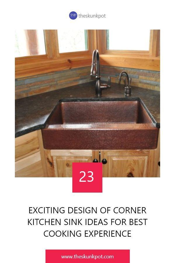 23 Corner Kitchen Sink Ideas For Best Cooking Experience Corner Sink Kitchen Sink Kitchen Sink