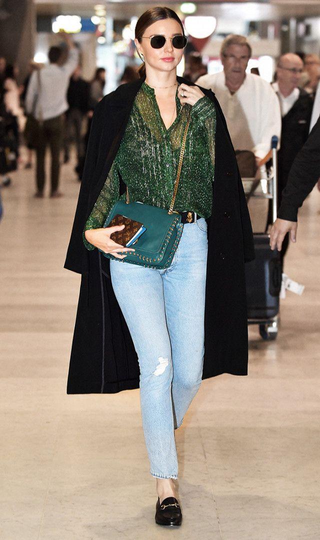 Love this easy skinny jeans look on Miranda Kerr.
