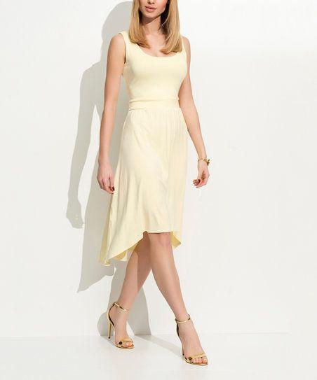 Folly Yellow Tank Hi-Low Dress | zulily