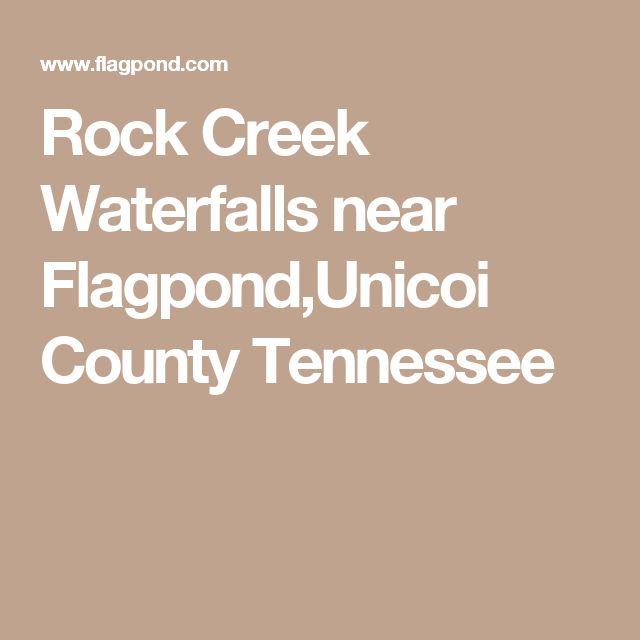 Rock Creek Waterfalls near Flagpond,Unicoi County Tennessee