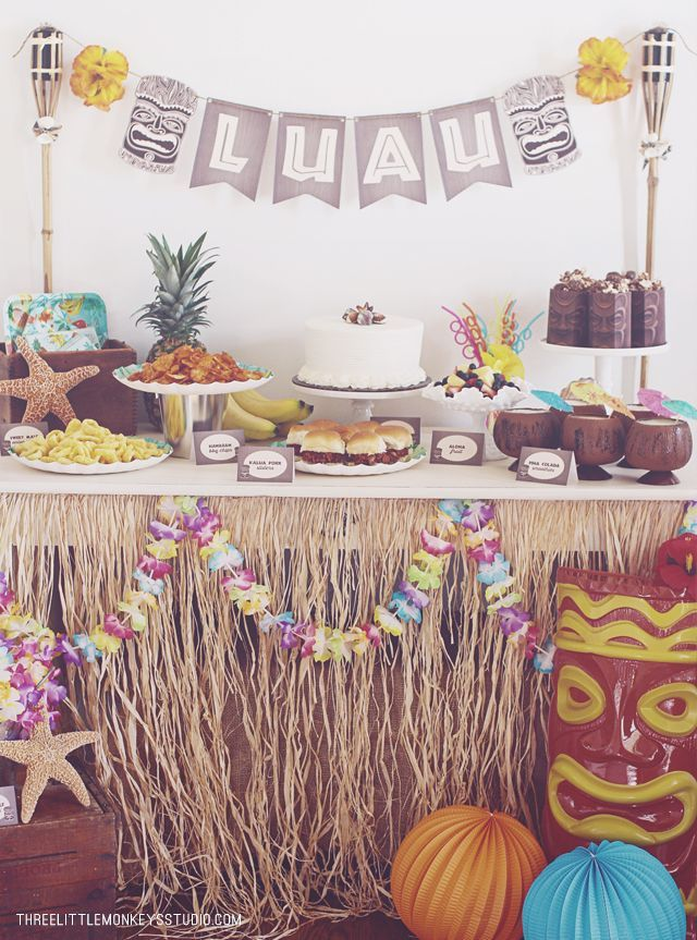 A Hawaiian Luau Party by ThreeLittleMonkey...