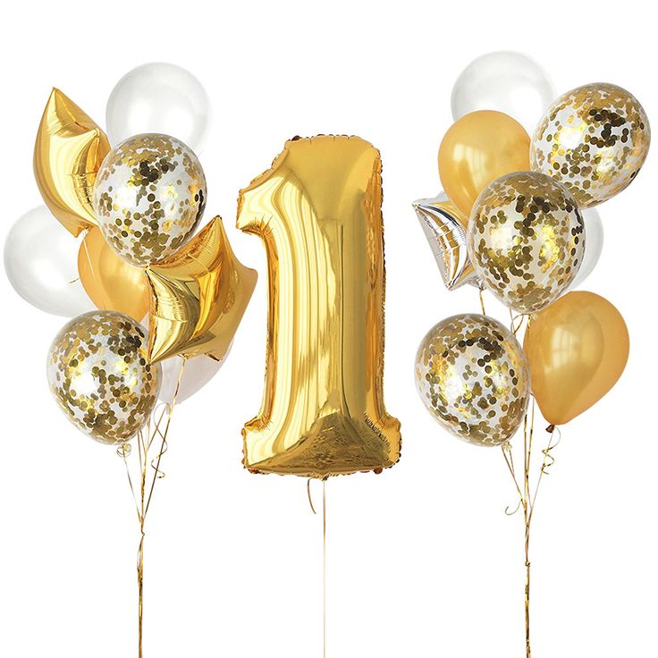 Find More Party DIY Decorations Information about ZLJQ 29 Pcs Gold whit 1st Birthday Baby Shower Party Decoration Confetti Balloon Number ONE #1 Gold Silver Star Foil Balloon,High Quality balloon number,China balloon balloon Suppliers, Cheap balloons gold from Shop2883063 Store on Aliexpress.com